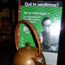Antigüedades: MUY ANTIGUA TETERA KETTLE SUIZA -THERMA- 1940/50 COBRE ESTAÑADO - RATTAN - FUNCIONA. Lote 42784623