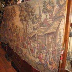 Antiques - Antiguo tapiz grande altura 118 cm. ancho 190 cm. buen estado de conservación. - 42792202