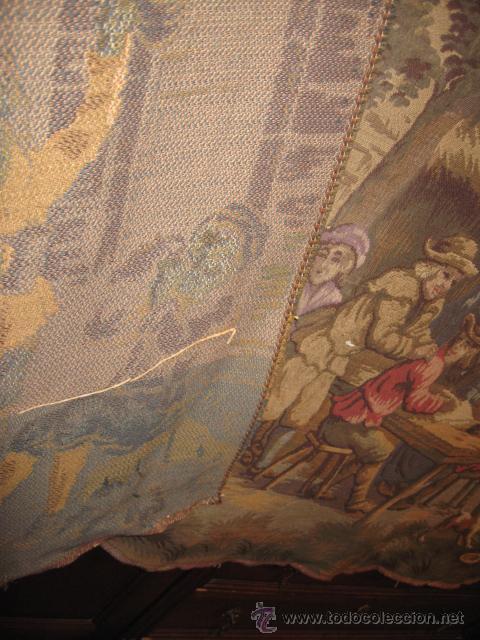Antigüedades: Antiguo tapiz grande altura 118 cm. ancho 190 cm. buen estado de conservación. - Foto 6 - 42792202