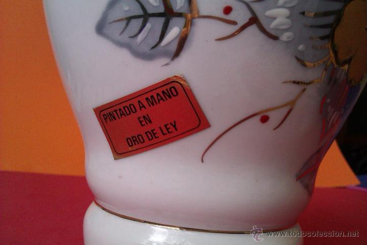 Antigüedades: PRECIOSO JARRON DE PORCELANA PINTADO A MANO EN ORO DE LEY JARRON CON - Foto 6 - 42797339