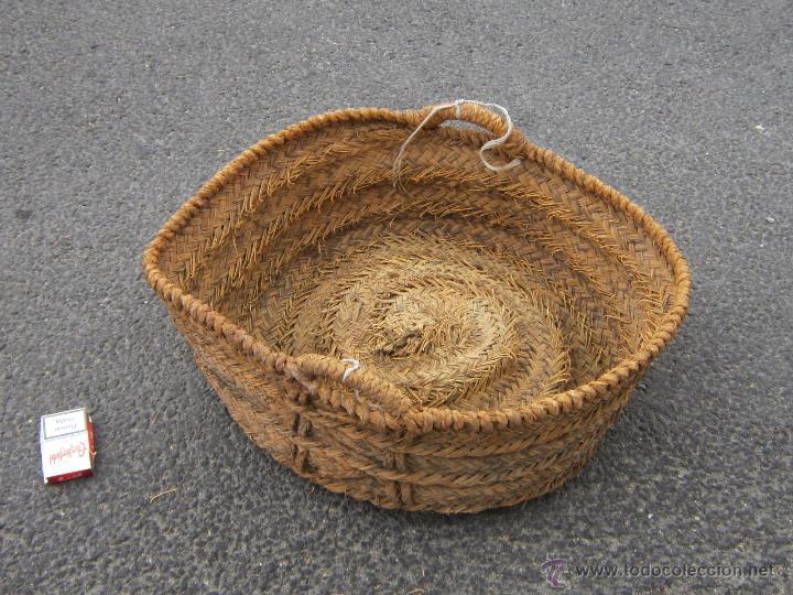 CAPAZO ANTIGUO DE ESPARTO (Antigüedades - Técnicas - Rústicas - Agricultura)
