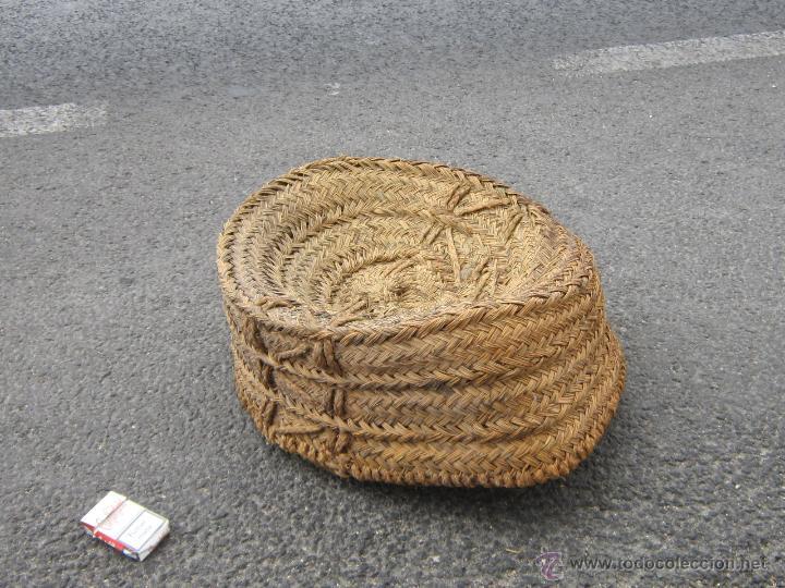 Antigüedades: CAPAZO ANTIGUO DE ESPARTO - Foto 3 - 42804331