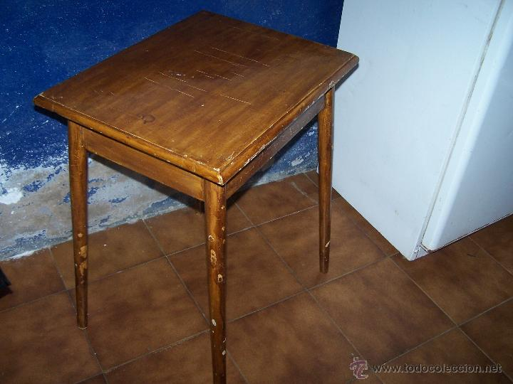 Antigüedades: Curiosa, sencilla y bonita mesa antigua para restaurar o dejar tal cual. - Foto 2 - 42807388
