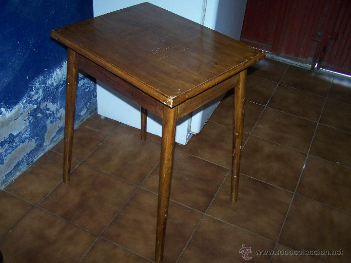 Antigüedades: Curiosa, sencilla y bonita mesa antigua para restaurar o dejar tal cual. - Foto 3 - 42807388