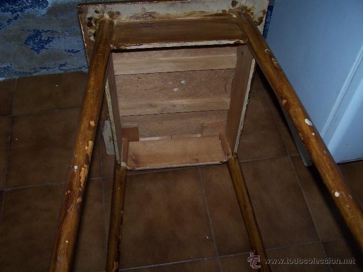 Antigüedades: Curiosa, sencilla y bonita mesa antigua para restaurar o dejar tal cual. - Foto 5 - 42807388