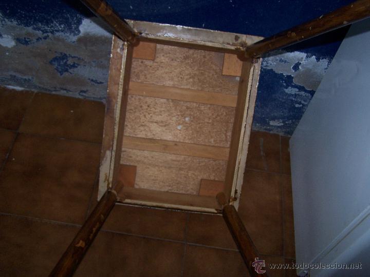 Antigüedades: Curiosa, sencilla y bonita mesa antigua para restaurar o dejar tal cual. - Foto 6 - 42807388
