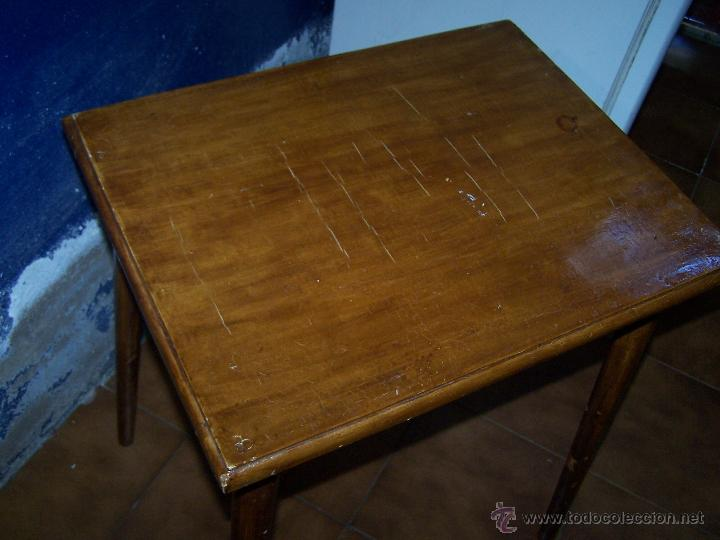 Antigüedades: Curiosa, sencilla y bonita mesa antigua para restaurar o dejar tal cual. - Foto 8 - 42807388