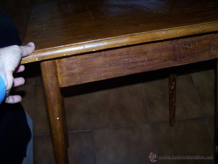 Antigüedades: Curiosa, sencilla y bonita mesa antigua para restaurar o dejar tal cual. - Foto 12 - 42807388