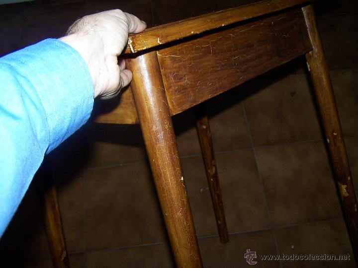 Antigüedades: Curiosa, sencilla y bonita mesa antigua para restaurar o dejar tal cual. - Foto 13 - 42807388