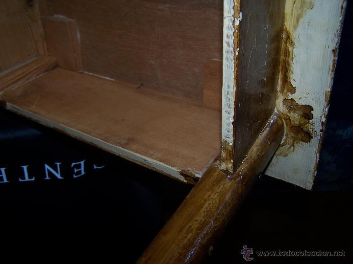 Antigüedades: Curiosa, sencilla y bonita mesa antigua para restaurar o dejar tal cual. - Foto 23 - 42807388