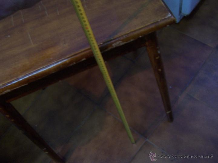 Antigüedades: Curiosa, sencilla y bonita mesa antigua para restaurar o dejar tal cual. - Foto 29 - 42807388
