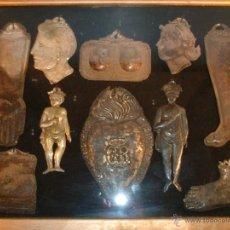 Antigüedades: RELICARIO IMPRESIONANTE DE EXVOTO S. XVIII-XIX RELIQUIA AMULETO PROTECTOR EX VOTO. Lote 42808743