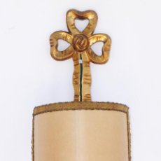 Antigüedades: ELGANTE PAREJA DE LAMPARAS ANTIGUAS APLIQUES TIPO LUIS XV DECORACION CLASICA PALACIEGA MADERA AL ORO. Lote 98164024