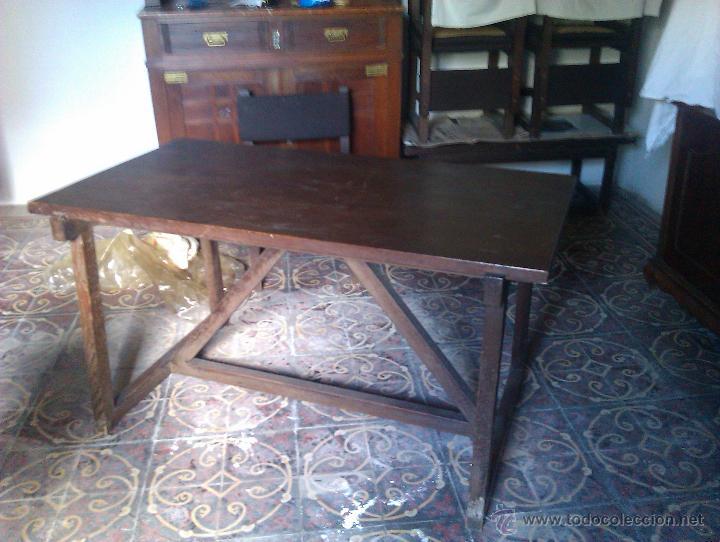 MESAS ANTIGUAS PINO (Antigüedades - Muebles Antiguos - Mesas Antiguas)