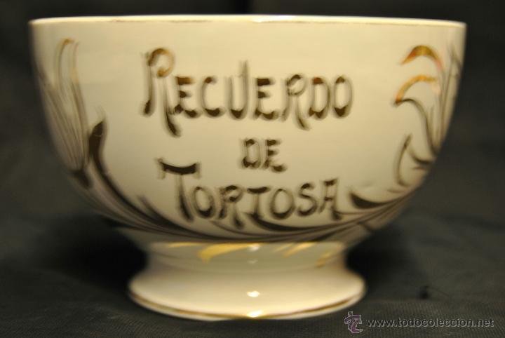 ANTIGUO TAZON DE LOZA RECUERDO DE TORTOSA (Antigüedades - Porcelanas y Cerámicas - Otras)