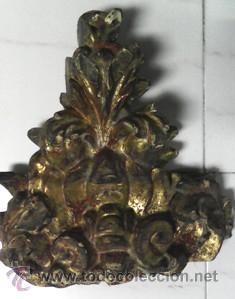 TROZO DE RETABLO BARROCO (Antigüedades - Religiosas - Varios)