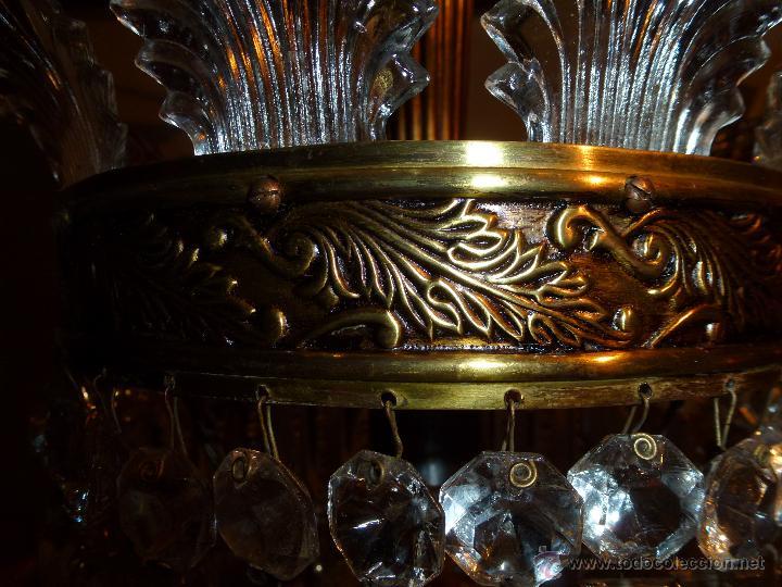 Antigüedades: Lámpara cristal de roca - Foto 2 - 42836117