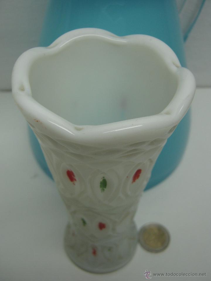 Antigüedades: Antigua opalina blanca - Foto 2 - 42837254