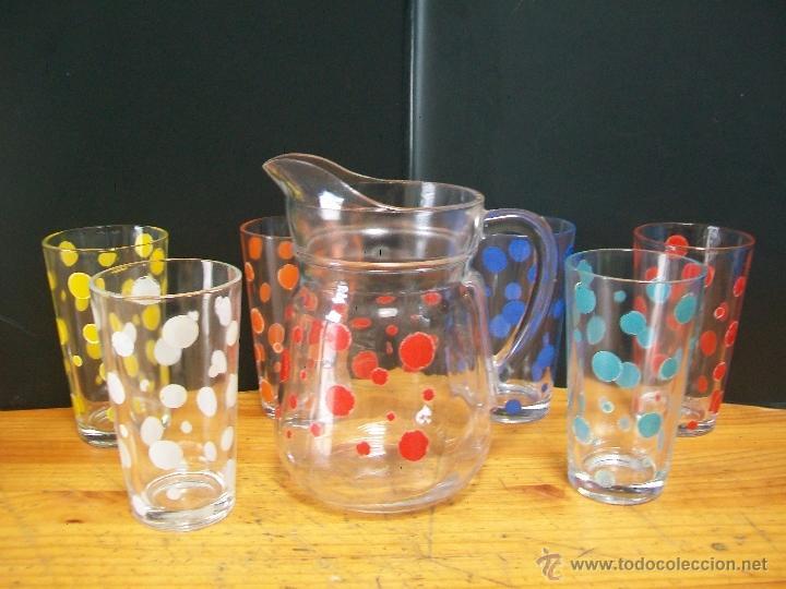 Juego de 6 vasos y jarra de cristal de lunare comprar for Vasos cristal colores