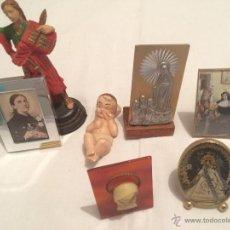 Antigüedades: LOTE DE 7 IMAGENES RELIGIOSAS EN MINIATURA. Lote 42837359