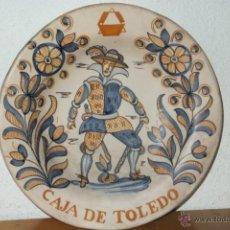 Antigüedades: PLATO TALAVERA SOLDADO FLANDES SIGUIENDO MODELO SERIE TRICOLOR S.XVII PUBLICIDAD CAJA AHORROS TOLEDO. Lote 42838364
