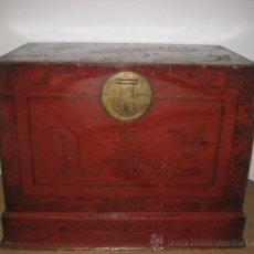 Antigüedades: ANTIGUO BAUL TIBETANO.ENVIO INCLUIDO.. Lote 42840757
