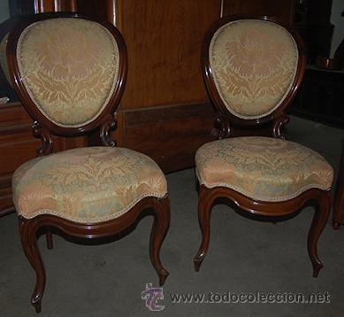 Antig edades 2 sillas isabelinas de madera de j comprar - Sillas antiguas de madera ...