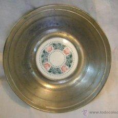 Antigüedades: PLATO CERÁMICA MAYÓLICA, DE 23 CM, CON MOTIVOS FLORALES. Lote 42855803