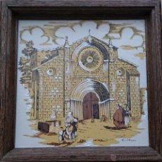 Antigüedades: ANTIGUO AZULEJO PINTADO Y FIRMADO POR EL PINTOR A.CABANAS, ENMARCADO EN MADERA ( 23,5 CM X 23,5 CM ). Lote 42864702