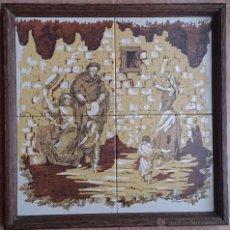 Antigüedades: ANTIGUO PLAFÓN DE AZULEJOS PINTADO Y FIRMADO POR EL ARTISTA A.CABANAS .. Lote 42865773