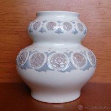 Antigüedades - Magnífico jarrón florero con flores en relieve de porcelana LLADRÓ ( años 70 ). - 42867288