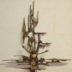 Antigüedades: CRISTO - METAL DORADO. Lote 42867614