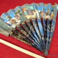 Antigüedades: ABANICO PINTADO A MANO. Lote 42886820