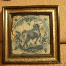 Antigüedades: AZULEJO CON TORO.. Lote 42902252