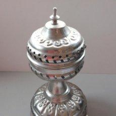 Antigüedades: INCENSARIO ALPACA PLATEADA. Lote 42902372