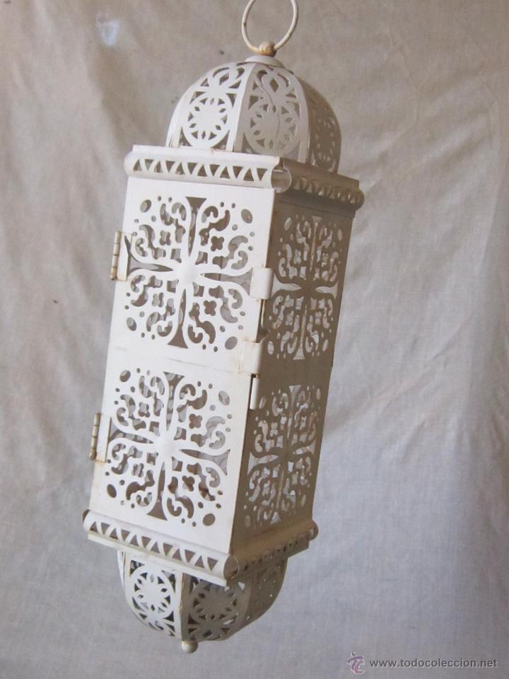 FAROL EN METAL (Antigüedades - Iluminación - Faroles Antiguos)