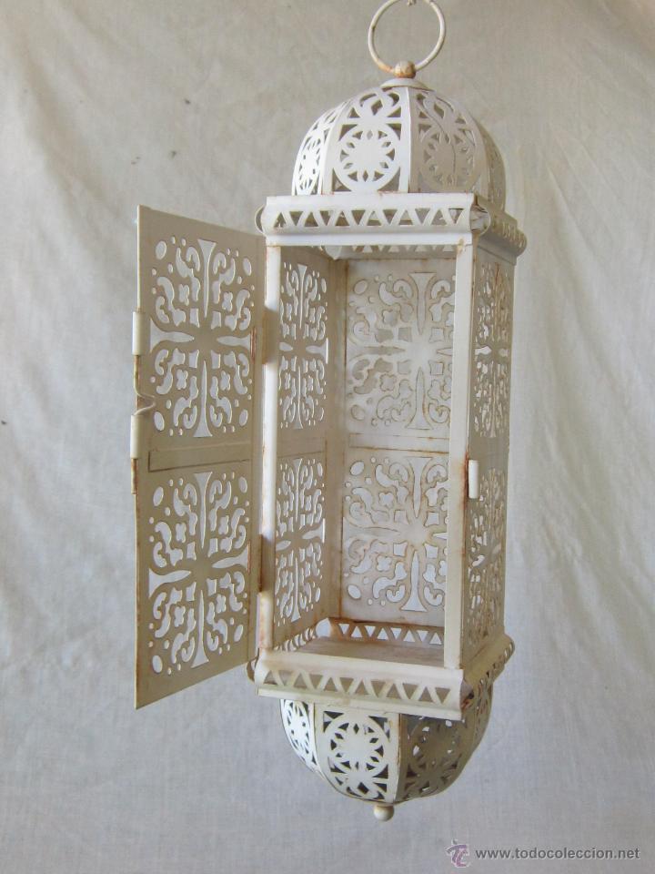 Antigüedades: FAROL EN METAL - Foto 3 - 42908420