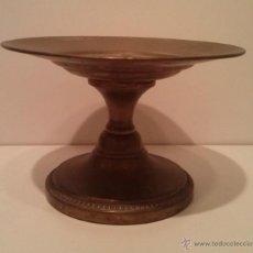 Antigüedades: FRUTERO O CENTRO DE MESA DE COBRE PLATEADO (CASI BORRADO). Lote 42910306