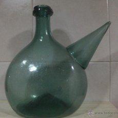 Porrona en cristal soplado catalan S.XIX
