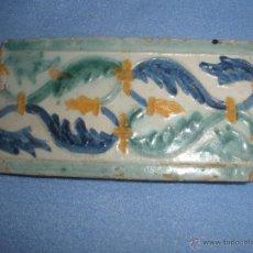 Antigüedades: AZULEJO DE TOLEDO TECNICA DE ARISTA.CENEFA. RENACIMIENTO. S/XVI. Lote 42924139