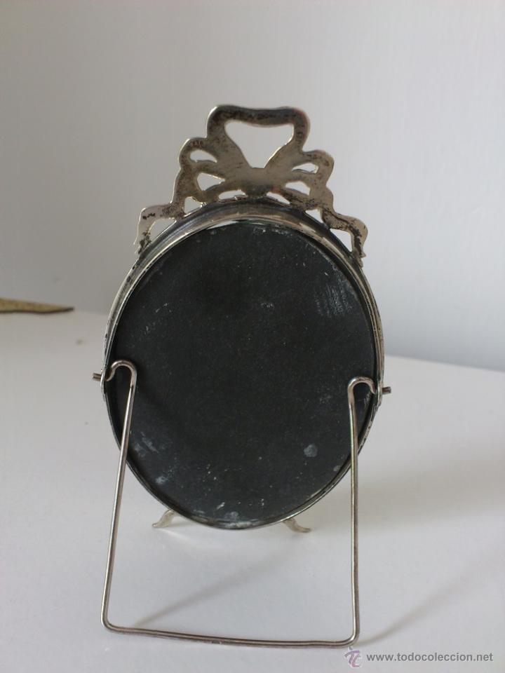 Antigüedades: Marco de Plata de Ley estilo Luis XVI Punzonada Alto 115mm - Foto 2 - 42933122
