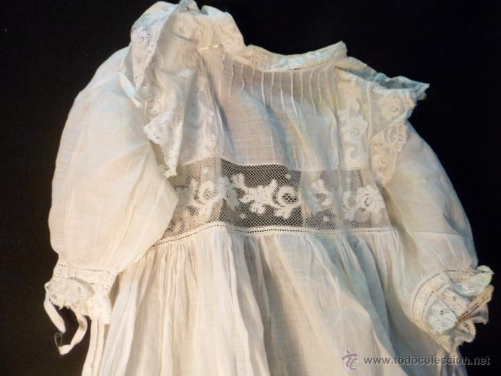33ae727dd Antiques: J 448 Vestido faldón antiguo de cristianar, batista, realce y  Valenciennes.
