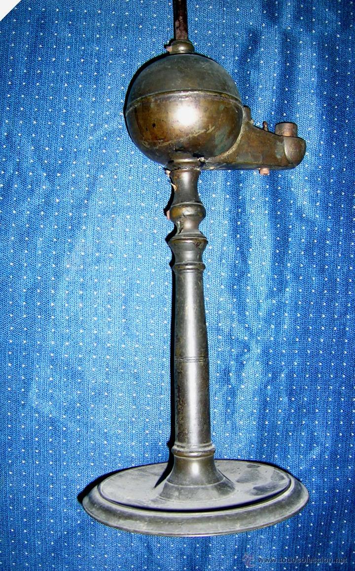 Antigüedades: CANDIL DE ACEITE.ANTIGUO GALLEGO.ALTO 45 Cm.ARTESANAL.DE COLECCIÓN. VER DESCRIPCIÓN.ENVÍO PAGO. - Foto 2 - 42950988