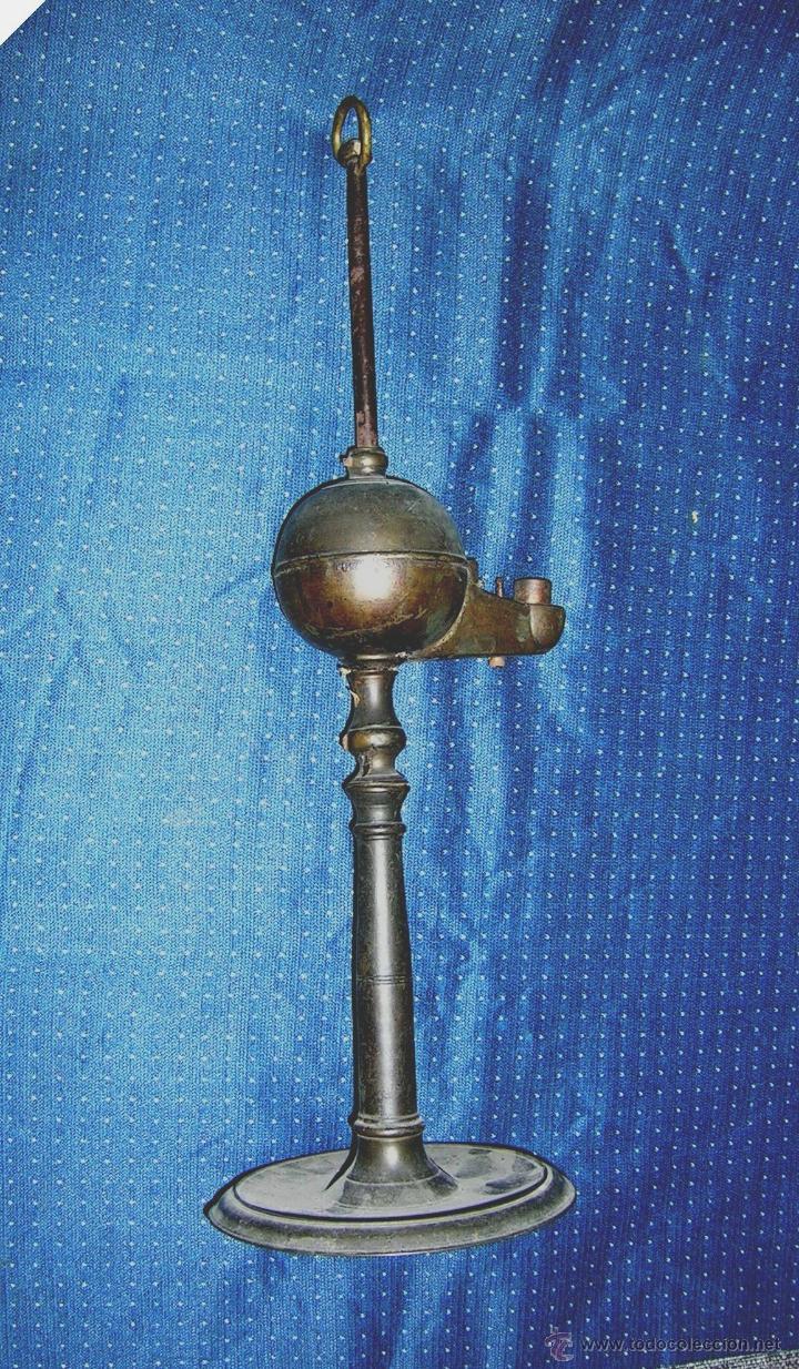 Antigüedades: CANDIL DE ACEITE.ANTIGUO GALLEGO.ALTO 45 Cm.ARTESANAL.DE COLECCIÓN. VER DESCRIPCIÓN.ENVÍO PAGO. - Foto 7 - 42950988