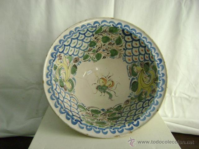 CUENCO.MANISES.SIGLO XIX (Antigüedades - Porcelanas y Cerámicas - Manises)