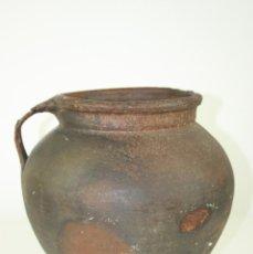 Antigüedades: JARRÓN O TINAJA EN TERRACOTA POPULAR,S. XVIII-XIX. Lote 42958811