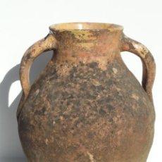 Antigüedades: ANTIGUO PUCHERO DE CERÁMICA. PROBABLEMENTE SIGÜENZA, GUADALAJARA. ASAS MUY RELEVANTES.. Lote 42962142