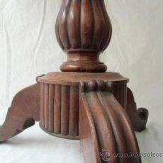 Antigüedades: MESA VELADORA DE CAOBA MACIZA. Lote 38661123