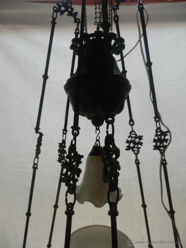 Antigüedades: LAMPARA QUINQUE DEL SIGLO XIX - Foto 2 - 42970082