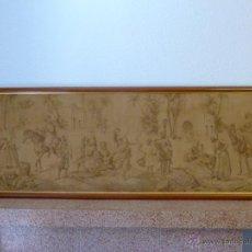 Antigüedades: TAPIZ ANTIGUO ESCENA ÁRABES - ÁRABE - ENMARCADO. Lote 42973851